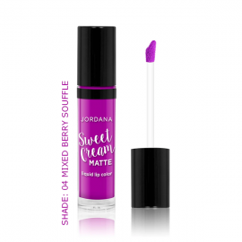 Jordana Sweet Cream Matte Liquid Lip Color – Mixed Berry Souffle