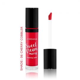 Jordana Sweet Cream Matte Liquid Lip Color – Cherry Cobbler